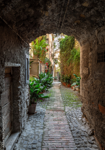 Fototapety, obrazy: Anagni (Italy) - A little medieval city in province of Frosinone, famous to be the