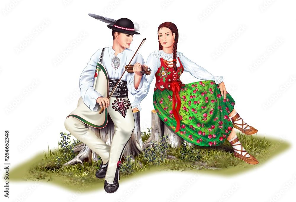 Fototapeta Polish Highlander Couples