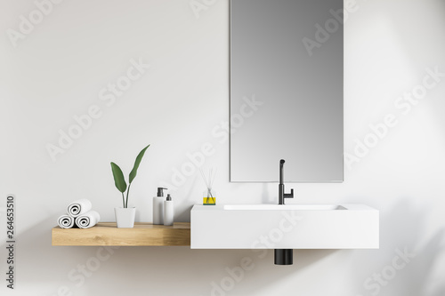 Cuadros en Lienzo White bathroom sink with mirror