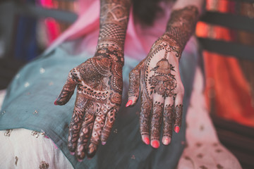 Indian bride's henna mehndi...