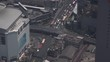 Expressway highway in Bangkok's city aerial view