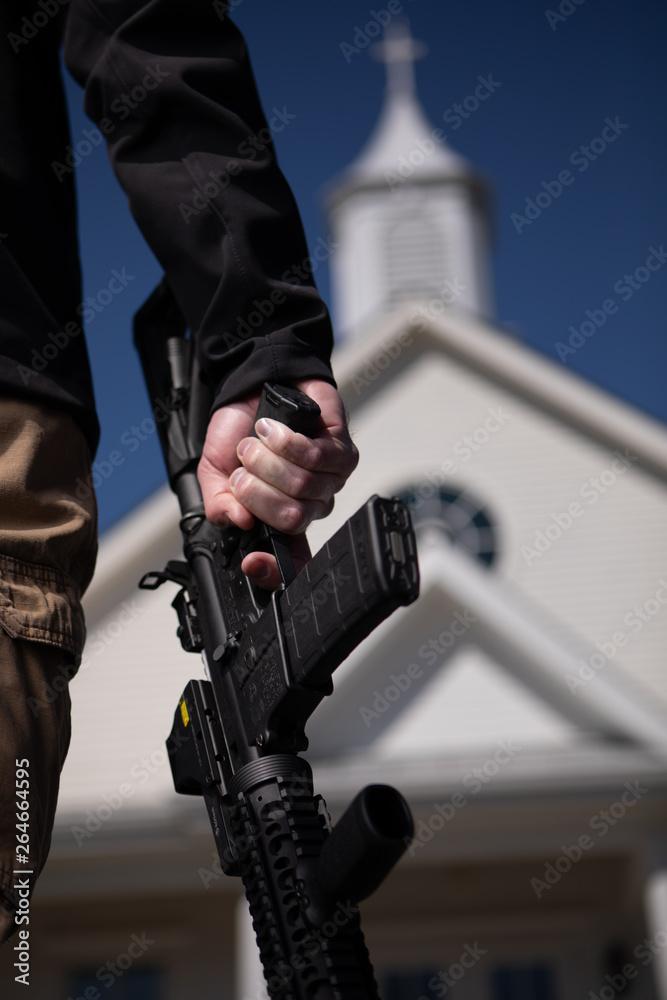 Fototapeta Active Shooter Training Commercial Portrait