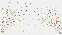 Shot Of Confetti Crackers On A Transparent Background, Celebration And Celebration, Fun Decorations