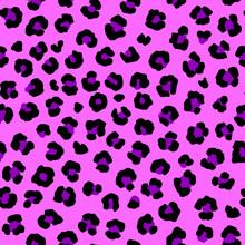 Seamless Pink Animal Pattern, Leopard Or Jaguar Skin, Safari Pattern