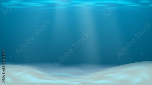 Vector background with empty sea sand bottom Canvas