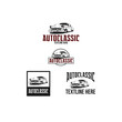auto classic logo set