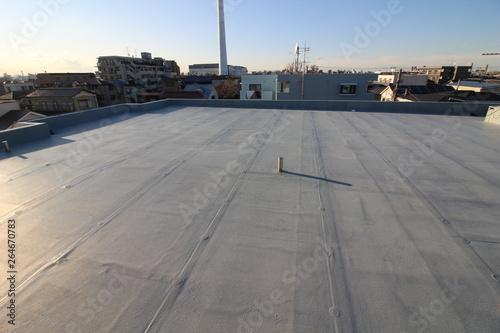 Fotografia, Obraz 夕暮れ時のマンションの屋上防水