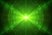 Green Circular Wave Glow. Kale...