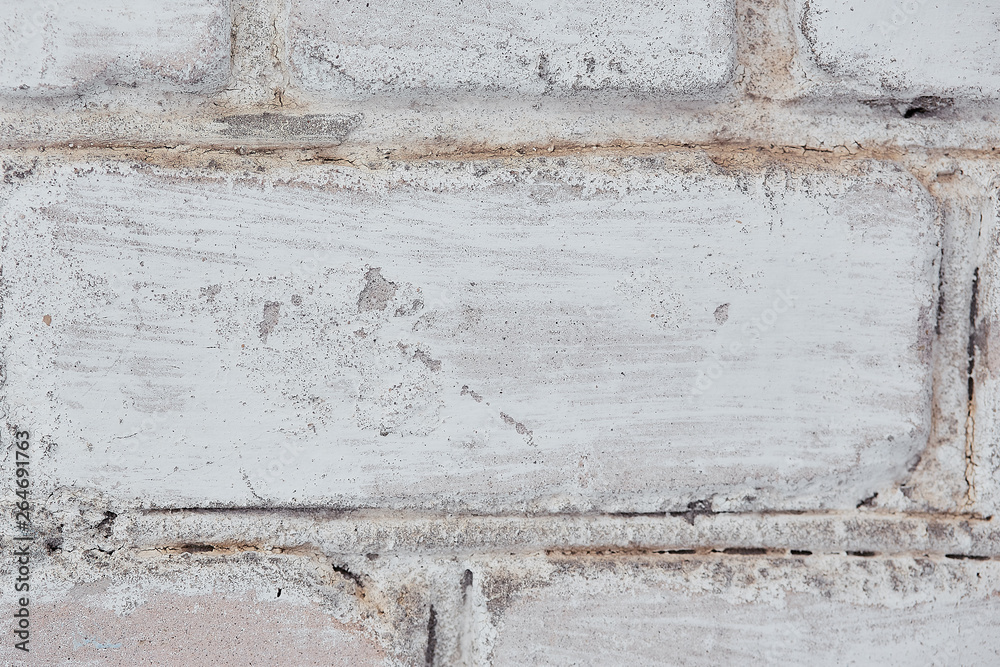 brick old wall of white color, Background Texture