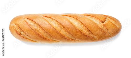 Valokuva  Freshly baked baguette isolated on white background.