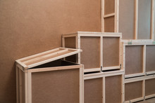 Wooden Plywood Boxes For Transportation And Storage. Crate For Home Use