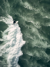 Surfer From Above