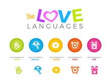 Five Love Language. Vector Illustration