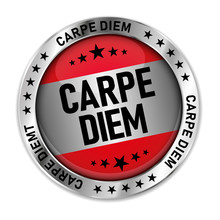 Carpe Diem Silver Web Medal Ic...