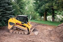 Yellow Bulldozer In Constructi...