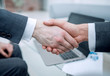close up. confident handshake of financial partners