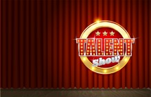 Talent Show Poster Template, Vector Realistic Illustration