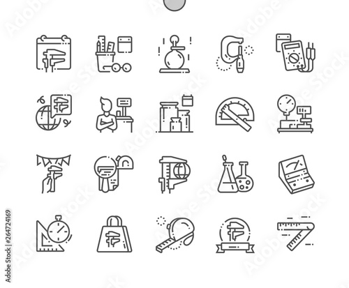 World Metrology Day Well-crafted Pixel Perfect Vector Thin Line Icons 30 2x Grid for Web Graphics and Apps Canvas Print