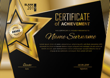 Official Black Certificate Wit...