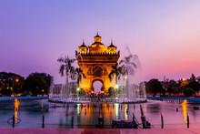 Patuxay Monument Landmark Arch...