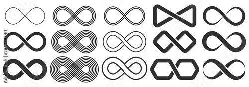 Stampa su Tela Infinity symbol. Symbol of repetition and unlimited cyclicity.