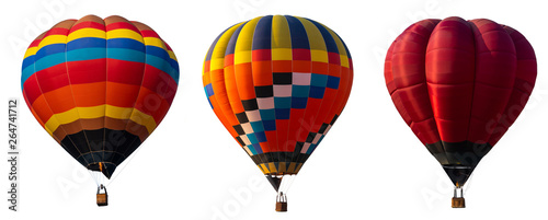 Door stickers Balloon Isolated photo of hot air balloon isolated on white background.