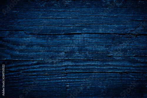 Fényképezés  Texture Navy blue of old rough wood