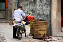 Chinese Old Man Trash Keeper F...