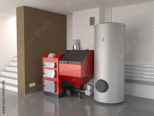 Obraz Heating system, 3d illustration - fototapety do salonu