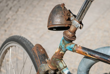Weathered, Old Rusty Bicycle H...