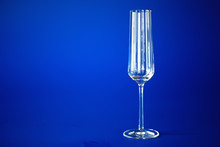 Empty Clean Glasses For Champagne