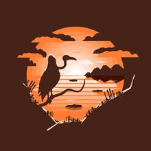 Wild West Landscape. Vulture S...