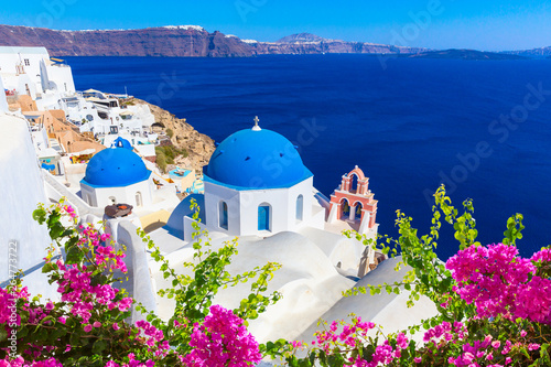 Santorini island, Greece. Wallpaper Mural
