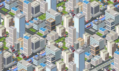 Fototapeten Künstlich Seamless urban plan