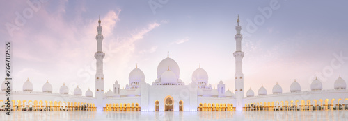 Fotografia Sheikh Zayed Grand Mosque during sunset, Abu-Dhabi, UAE