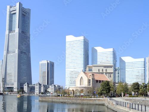 Staande foto Asia land 神奈川県横浜市みなとみらいの風景 日本