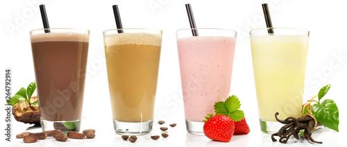 Milchshake - Schokolade, Kaffee, Erdbeere, Vanille