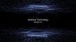 Leinwanddruck Bild - abstract technology background with light effect