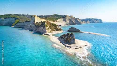 Foto auf Leinwand Pool Beautiful view of Cape Drastis in the island of Corfu in Greece