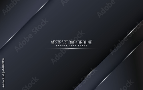 Carta da parati  Black premium background with luxury dark