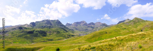 panoramic view from the Aubisque pass, mountain pass of the French Central Pyrenees, culminating at 1,709 meters Canvas Print