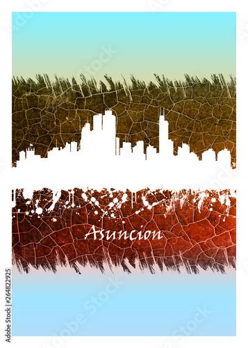 Photo Asuncion skyline Blue and White