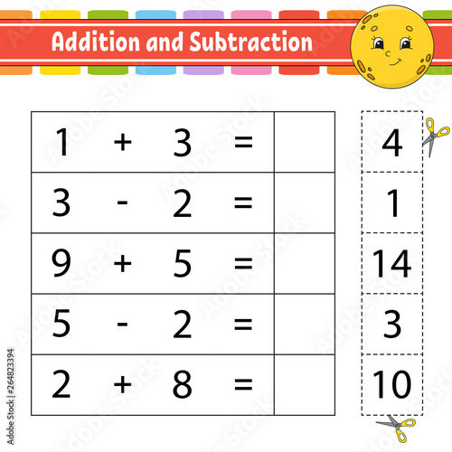 Addition and subtraction Wallpaper Mural