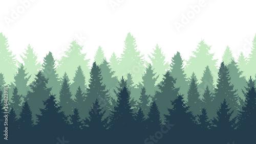 Valokuva fir trees seamless pattern