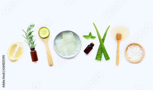 Fotografie, Obraz  Natural ingredients for homemade skin care