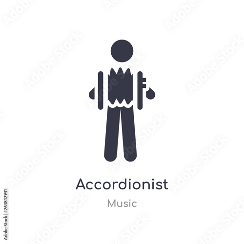 Obraz na plátne accordionist outline icon