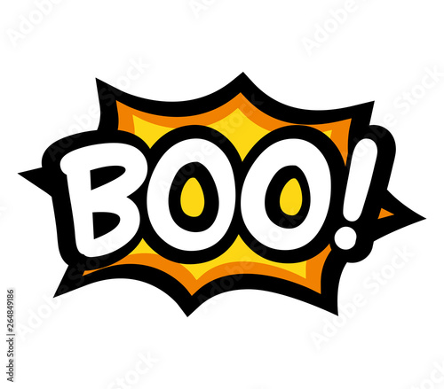 Obraz na plátne boo letters on comic text. Isolated Vector