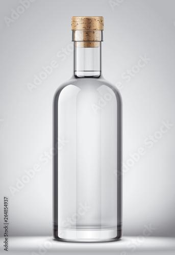 Fototapeta Glass bottle mockup. obraz