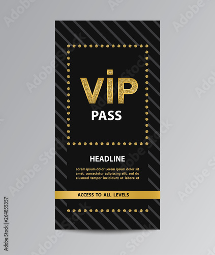 VIP pass admission Canvas Print