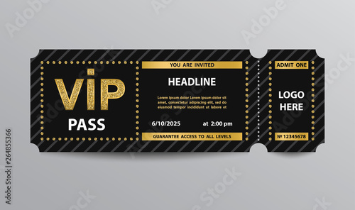 Fototapeta VIP pass admission ticket obraz